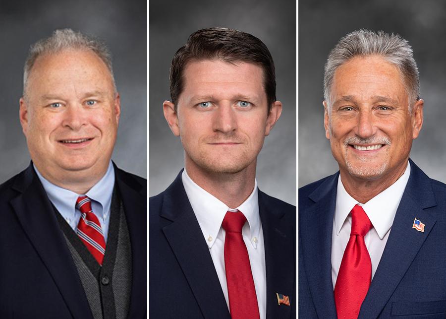 Rep. Jim Walsh, Rep. Joel McEntire and Sen. Jeff Wilson