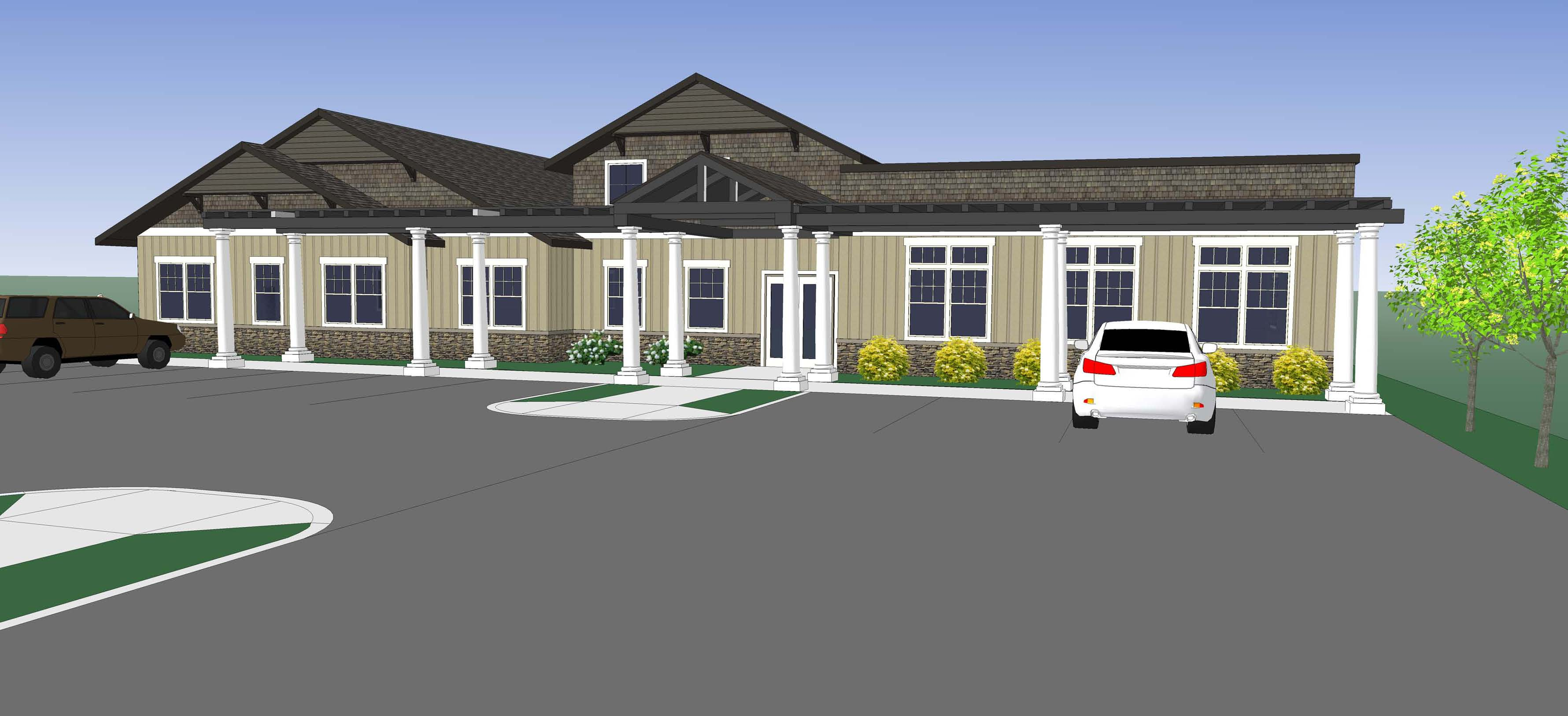 Rendering of Community's new grief center