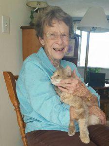 Diane and cat
