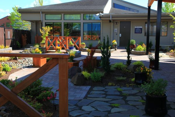 Image of the garden space at CHHH Home Hospice Care Center