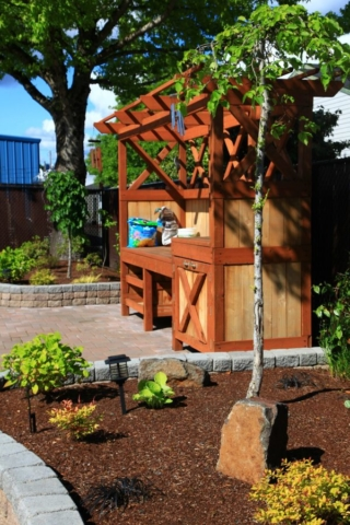 photo of the home hospice care center garden