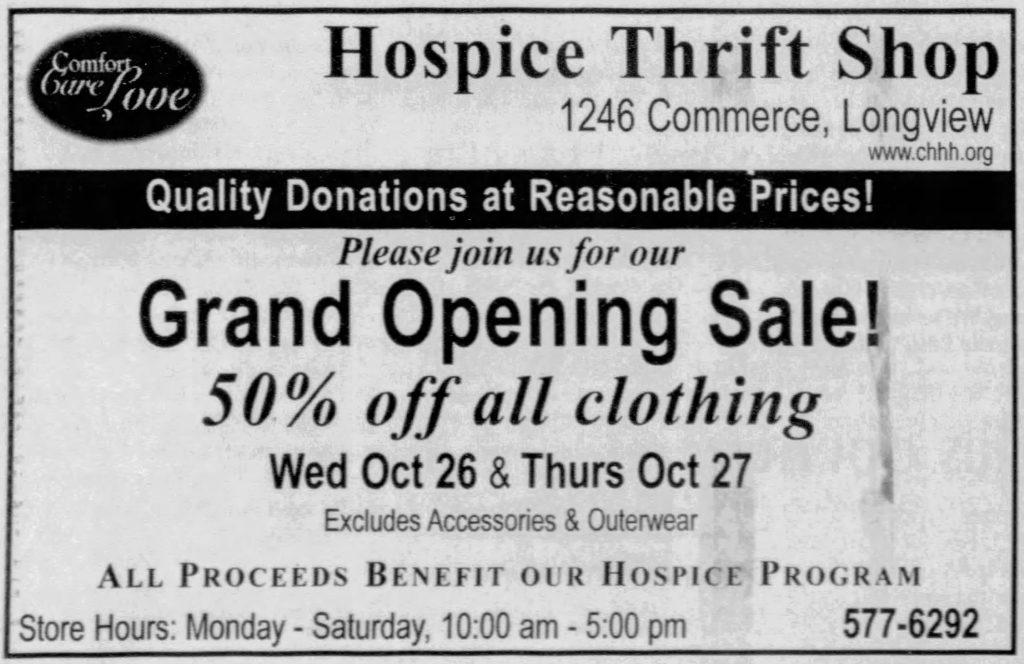 Hospice Thrift Shop