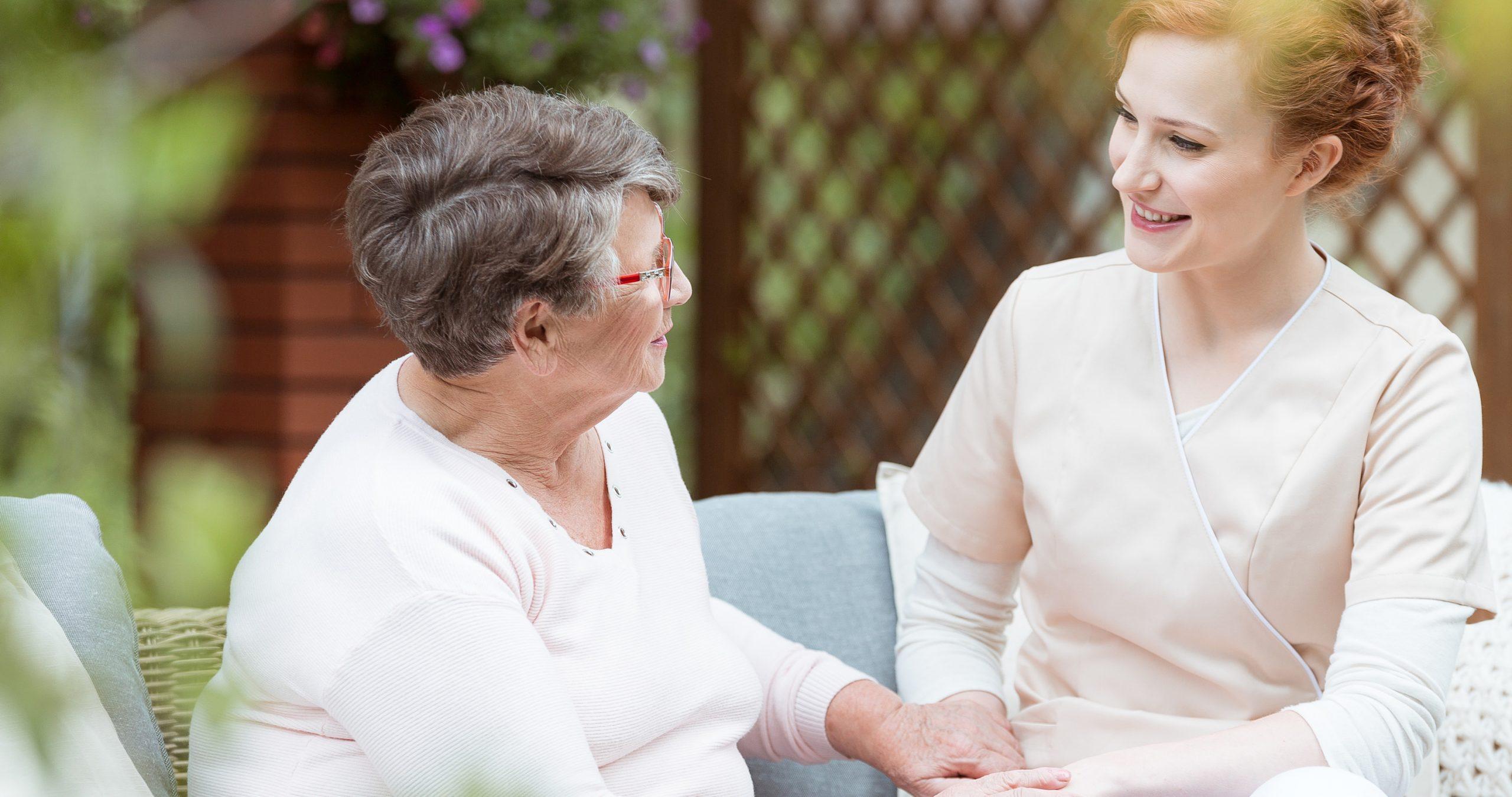 Nurse and patient having a conversation
